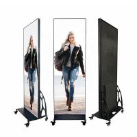 Quality Moveable Outdoor LED Poster Screen Floor Stand Display With Wifi / 4G Control wholesale