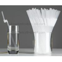 Quality Disposable cute plastic white straight drinking straw, PLA individually wrapped drinking Straws, PLA straws disposable wholesale
