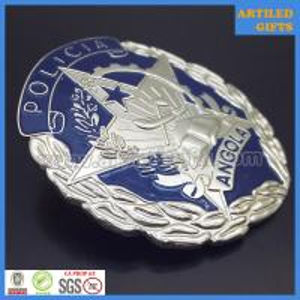 Quality Cheap metal enamel República de Angola policia badges with screw lock wholesale