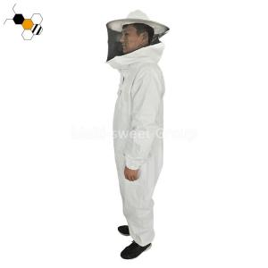 Quality Breathable White Brown Cotton Agricultural Beekeeper Coveralls wholesale