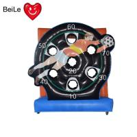 Quality Commercial inflatable football goal target soccer shoot darts board game for sale wholesale