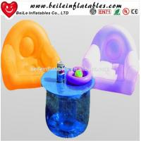 Quality Customized relax modern lights led plastic inflatable corner sofa wholesale