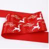 Buy cheap Satin Decorative Fabric Ribbon Custom Printed Logo For Christmas Celebration from wholesalers
