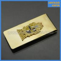 Quality Gold money clip with custom logo as Valentine gifts for men wholesale