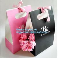 Quality Free Design!! Free Sample!!! flower carrier bag transparent window paper bag valentine's gift clear window bags sample f wholesale