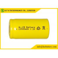 Buy cheap Low Self Discharge C3500mah 1.2 V Nicd Rechargeable Batteries Wide Temperature Range from wholesalers