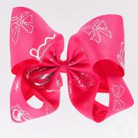 Buy cheap Big Hair Bow Ribbon Rose Red Color 100% Polyester Material 4 Inch Width from wholesalers