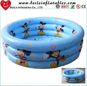 Quality DIY size 3 rings inflatable baby swim pool air bath tube wholesale