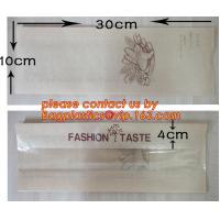 Quality OEM High Quality Enviromental Clear Window Bread Toast Paper Bags, Brown Kraft Sharp Bottom Food Safe Snack Paper Bags w wholesale