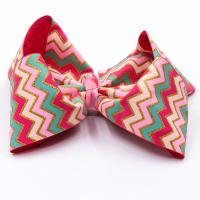 Quality Decorative Butterfly Hair Bow Stripe Patterned Grosgrain Fabric Type wholesale