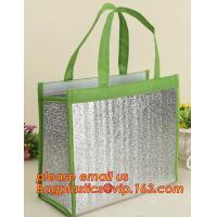 Quality thermal insulation 600D polyester cooler tote bag,Aluminum foil cold thermal insulation shoulder cooler bag bagease pac wholesale