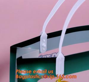 Quality Supermarket Soft Loop Handle Shopping Pe Resealable Pp Tote Plastic Waterproof Bag,PP Plastic Handle Bag with UV Printin wholesale