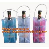 Quality Promotional PVC cooler bag for wine, Custom Refillable Travel Plastic Pvc Bottle Ice Tote Red Wine Cooler Bag As Gift Wh wholesale