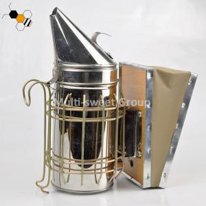 Quality 19.3*10cm Barrel Galvanized Leatheroid Electric Bee Smoker wholesale