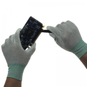 Quality White Cleanroom Antistatic Nylon ESD PU Palm Gloves wholesale