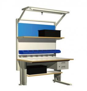 Quality Grey Metal 10e6 Ohms Electronic Workstation ESD Workbench wholesale
