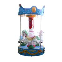 Quality Indoor 3 Seats Carousel For Kids Cute Design Mini Merry Go Round wholesale