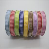 Quality Gingham Smooth Decorative Wired Ribbon For Hair Bow 2 - 100MM Width wholesale