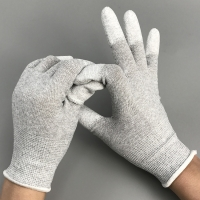 Quality PU Coated Palm Stretchable S M L Antistatic Control working Glove wholesale
