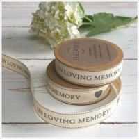 Quality Soft Cotton Printed Ribbon , 3 - 50MM Width Custom Printed Cotton Tape wholesale