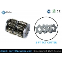 Floor Treatment Surface Scarifier And Milling Machine 6pt Carbide Cutter 6pt Milling Cutter