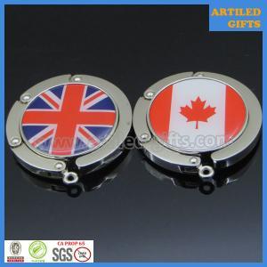 Quality High quality Brazil Canada UK National flag logo foldable table bag hanger wholesale