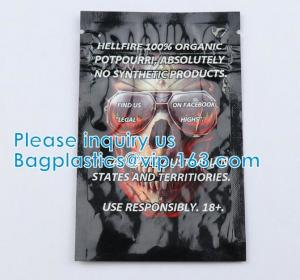 Quality Herbal Medical Packaging Bag Smell Proof Aluminum Foil Resealable Herbal Tea Ziplock Pouch Bag wholesale