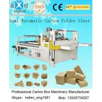 Quality Corrugated Cardboard Production Line Corrugated Paperboard Folding / Gluing 4KW wholesale