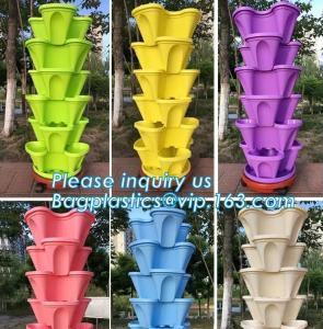 Quality strawberry vertical stackable planter plastic garden pots flower pot,PP material Mini plastic succulent pot for home gar wholesale