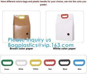 Quality Bio Handle Eco Kraft Waterproof handle Rice Packing Food Packaging, Such As Rice, Tea Leaves, Dried Nuts, Corns wholesale