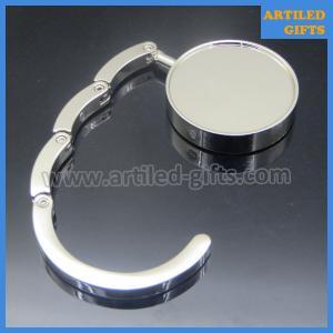 Quality Shiny chrome plated nickle and lead free blank round handbag hook wholesale
