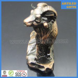 Quality Antique 3D zinc alloy 12 Chinese zodiac of Goat metal crafts wholesale