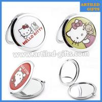 Buy cheap Cute cartoon gifts for lady Hello Kitty stainless steel foldable makeup mirror from wholesalers