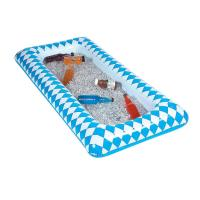Quality 90cmL blue Lattice inflatable ice table with PVC material wholesale