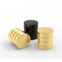 Quality New Design Ready Mold Gold Color Zamac Perfume Caps For Bottles wholesale