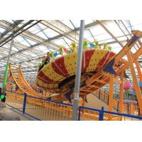 Quality Frp Material Amusement Park Machines , Thrilling Flying Ufo Disko Rides wholesale