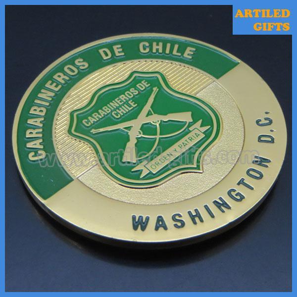 Washington D.C. Carabineros de Chile gold coins 1