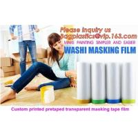 Quality HDPE Masking Film,Indoor Application Pretaped Drop Cloths,masking film,pre-taped cover car painting protection film hous wholesale