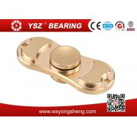 Quality Golden / Blue / Pink Brass Hand Spinner Fidget Toy With 608 Bearing 8*22*7mm wholesale