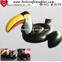Quality Hot sale PVC inflatable water float Largirostrornis inflatable toucan wholesale