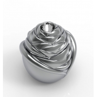 Quality ISO9001 Floral Zinc Alloy Glass Perfume Bottle Cover wholesale