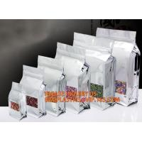 Quality Reusable Stand up Zipper Pouch Aluminum Foil Bags, Square Bottom Coffee Packaging Bags With Valve,Coffee Packaging Bags wholesale