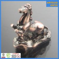 Quality Antique plating 3D zinc alloy metal Chinese zodiac gifts set of horse wholesale