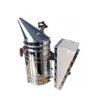 Quality Galvanized Steel  Bee Hive Smokers Star American Style Bee Smoker With Leather Blow Box For Beekeepers wholesale