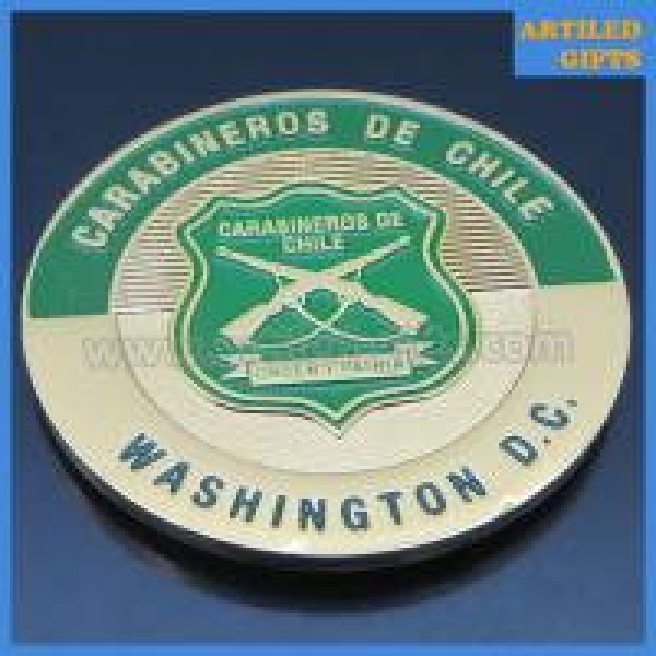Washington D.C. Carabineros de Chile gold coins 2