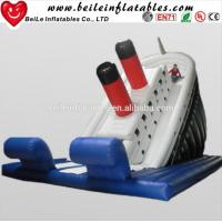 Quality Custom top quality single blue crazy water pvc infaltable slide for sale wholesale