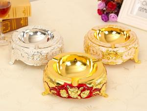 Quality Thickness 5.0mm OEM Antique Plating Zinc Alloy Ashtray wholesale