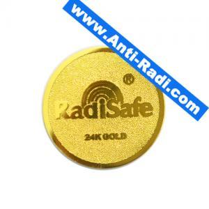 Quality 2018hot product realy work shiled Radisafe 99.8%24K-Gold Radi Safe anti radiation sticker wholesale