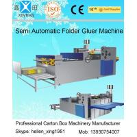 Quality Easy Operation Semi Automatic Gluing Machine Carton Gluer For 260mm Paperboard wholesale