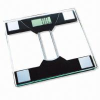 Quality Large LCD Electronic Bathroom Scale with 8mm Tempered Safety Glass Platform wholesale